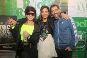 O festival de celebridades no primeiro finde do Rock in Rio - Fernanda Paes Leme, Carol Sampaio e Marcelo Faria