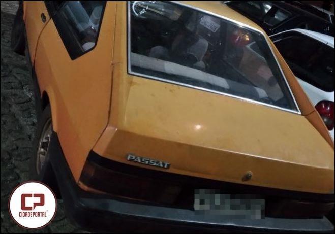 Equipe RPA da Policia Militar de Goioerê retira veículo irregular de circulação