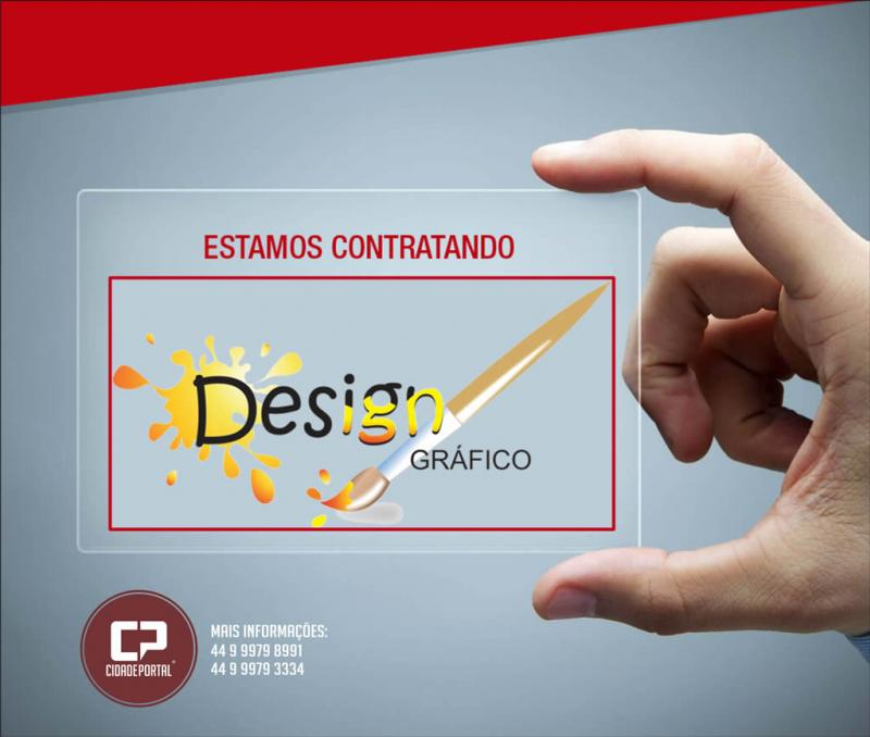 Contrata-se! Designer Gráfico - Para atuar em criação de materiais publicitários