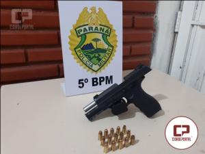 Policiais Militares de Londrina prendem homem armado que estava acompanhado e um amigo foragido da justiça