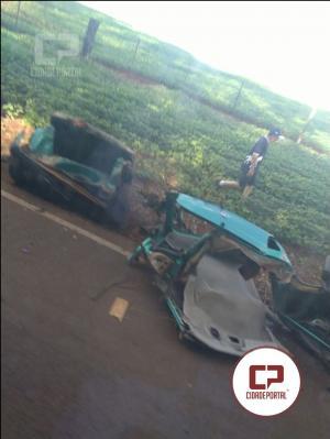 Acidente na PR-239 entre as cidade de Campina da Lagoa e Nova Cantu deixa uma pessoa morta