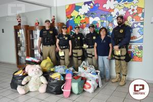 PRF realiza entrega de doações da campanha contra o câncer infantil