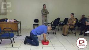 Policiais Militares do 5º Batalhão de Londrina recebem instrução sobre atendimento pré-hospitalar