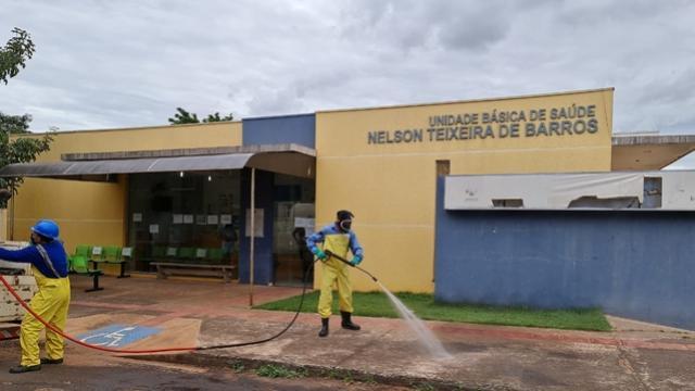 Sanepar realizou desinfecção nas unidades de saúde de Goioerê