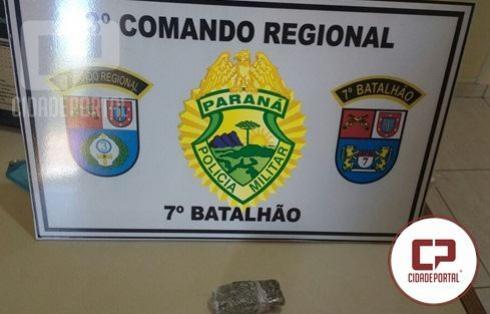 Policiais Militares do 7º BPM capturam foragido e apreendem entorpecente em Tapira