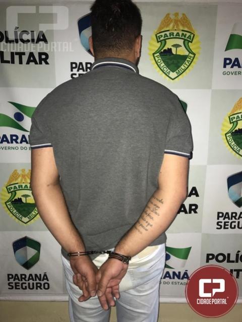 Polícia Militar prende homem  por violência doméstica em Cianorte