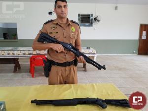 Comando da Polícia Militar de Goioerê reúne imprensa para divulgar novos armamentos