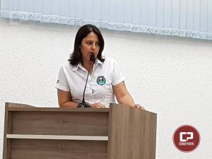 Secretária de assistência social destacou os trabalhos da pasta na tribuna livre da Câmara Municipal de Goioerê