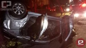 Uma pessoa fica ferida em acidente no trevo do Copacol nesta segunda-feira, 02