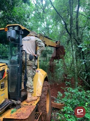 Polícia Federal, Exército e BPFron/PMPR realizam segunda operação de destruição de portos clandestinos