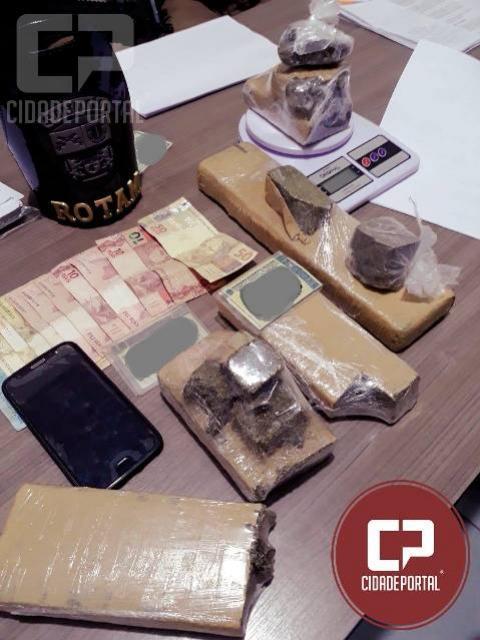 Polícia Militar prende duas pessoas por tráfico de drogas em Sarandi