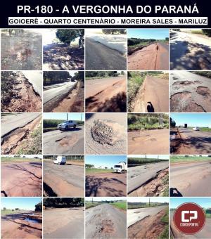 PR - 180 a vergonha do Paraná - Descaso ou falta de representatividade política?