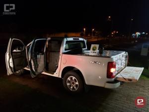 Rotam apreende veículo carregado com 20 mil maços de cigarros contrabandeados em Cruzeiro do Oeste