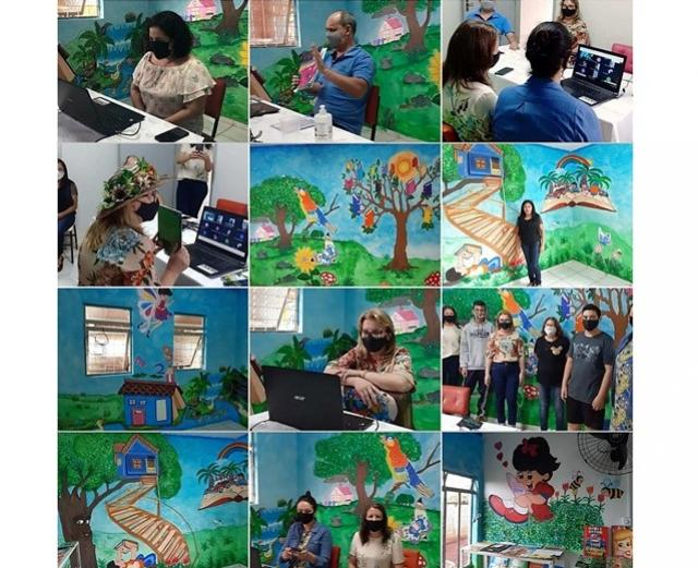 NRE de Goioerê participou do aulão no Colégio Estadual do Campo Bandeirantes D'Oeste