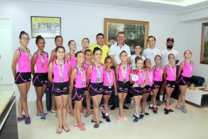 Ginástica Rítmica de Goioerê é destaque em competição estadual na cidade de Umuarama