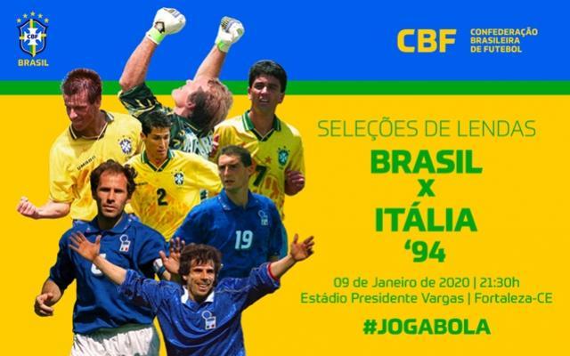 Na volta dos Masters, Brasil e Itália reeditam final da Copa de 1994