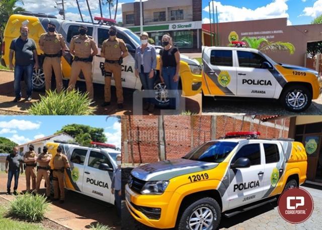 Destacamento Policial Militar de Juranda recebeu nova viatura