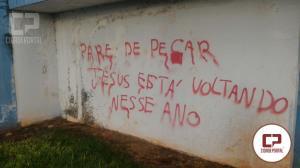Polícia Militar de Jesuítas apreende menor por dano ao patrimônio público