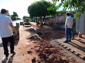 Betinho Lima acompanhou a ampliação da rede de esgoto no Jardim Primavera