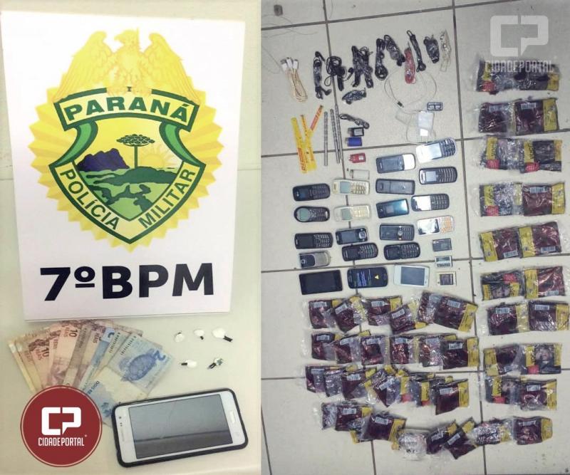 Policiais do 7º Batalhão da PM apreendem contrabando, drogas e efetuam prisões no fim de semana