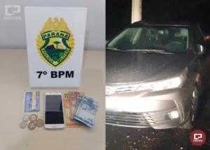 Autor de roubo em Moreira Sales foi localizado e preso pela Polícia Militar de Goioerê nesta sexta-feira, 05
