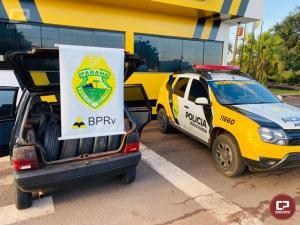 Polícia Rodoviária Estadual de Cruzeiro do Oeste apreende 20 pneus e 500 maços de cigarros contrabandeados