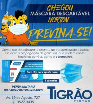 PREVINA-SE: Chegou Máscaras descartáveis Norton