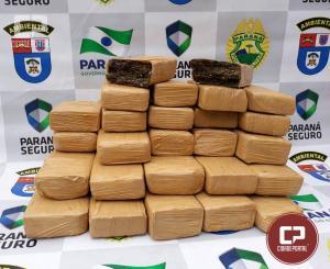 Polícia Ambiental de Umuarama apreende mais de 14 kg de maconha em Ônibus