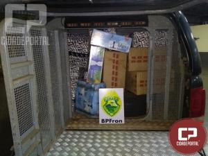 Produtos oriundos de contrabando são apreendidos em Guaíra