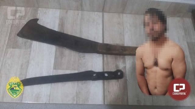 Homem foi agredido com facão em baile da terceira idade no distrito de Paraná do Oeste