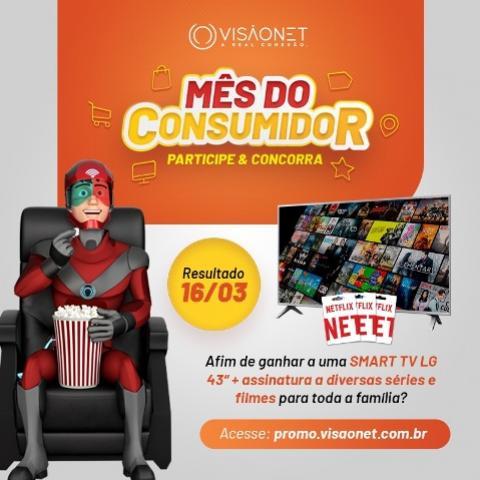 """Concorra a uma Smart Tv 43"""" + um cartão pré-pago da Netflix"""