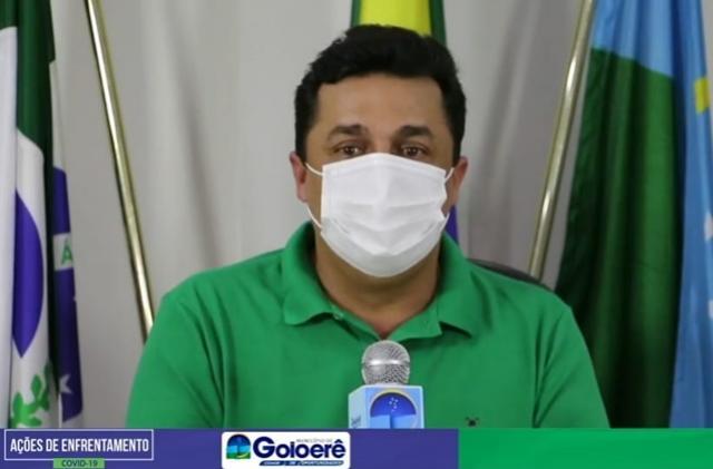 Betinho Lima realiza live e informa que comércio de Goioerê continuará fechado até quarta, 10