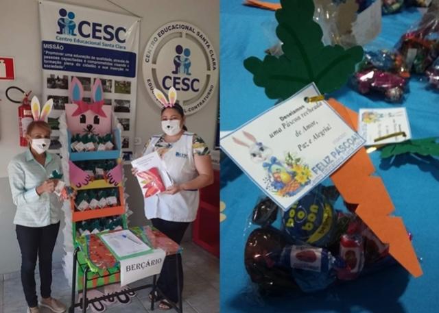 CESC realiza entrega dos módulos de atividades e lembrancinhas da Páscoa á seus alunos