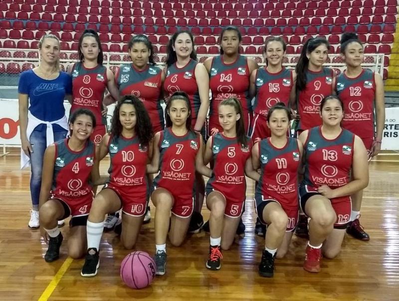 Basquete Feminino Sub-14 de Goioerê se destaca em competição estadual