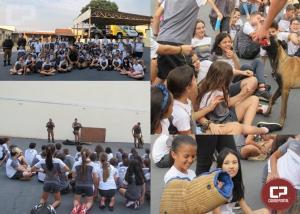 Crianças do colégio CEC visitam a sede da 5ª CIPM