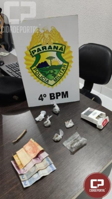 Drogas separadas para venda é apreendida por Polícia Militar em Maringá