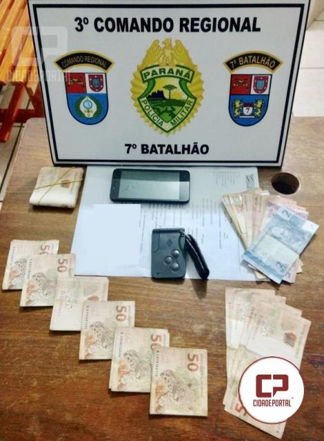 Homem é preso depois de tentar subornar Policiais do 7º BPM em Tapejara