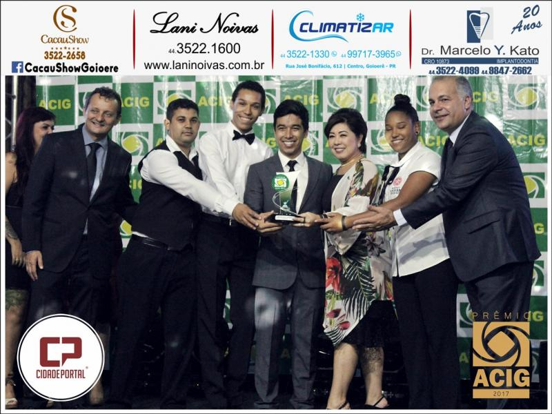 Daimaru Restaurante recebeu o Prêmio Acig -Melhores do Ano 2017