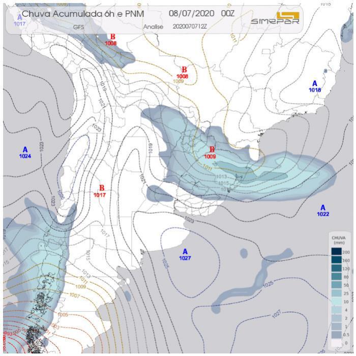 Condições do Tempo para região Oeste e Sudoeste