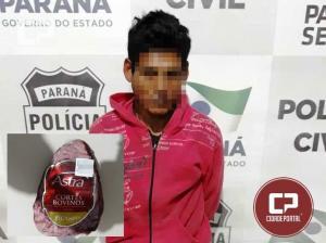 Uma pessoa foi presa por roubar uma peça de carne em Supermercado de Goioerê