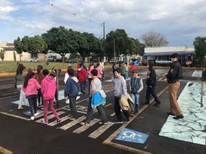 7° BPM recebe visita de Alunos da Escola Municipal Nísia Floresta de Cruzeiro do Oeste