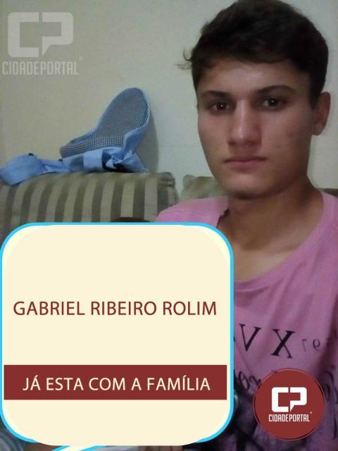 Gabriel voltou para casa durante a madrugada, a família agradece todos que colaboraram