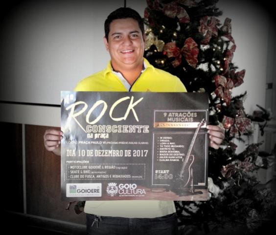 Praça do predião vai ferver no próximo domingo com o Rock Consciente em Goioerê