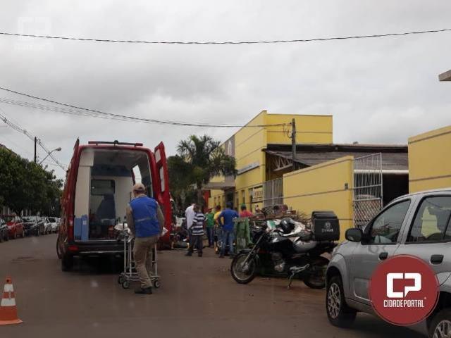 Duas pessoas ficam feridas em acidente na área central de Goioerê