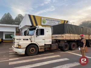 PRE de Cruzeiro do Oeste apreende mercadorias contrabandeadas durante Operação de Fiscalização