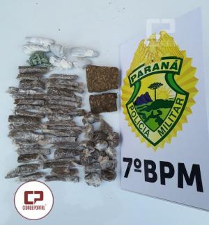 Operação conjunta entre 7º BPM e 17º DRP de Cruzeiro apreende drogas e produtos de furto em Tapejara