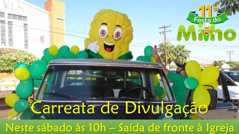 Carreata da 11ª Festa do Milho será neste sábado às 10 horas - Participe
