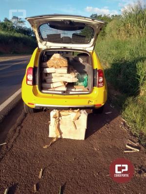 Policiais do 7° BPM apreendem 296 KG de Maconha e um caminhão com 400 caixas de cigarros contrabandeados