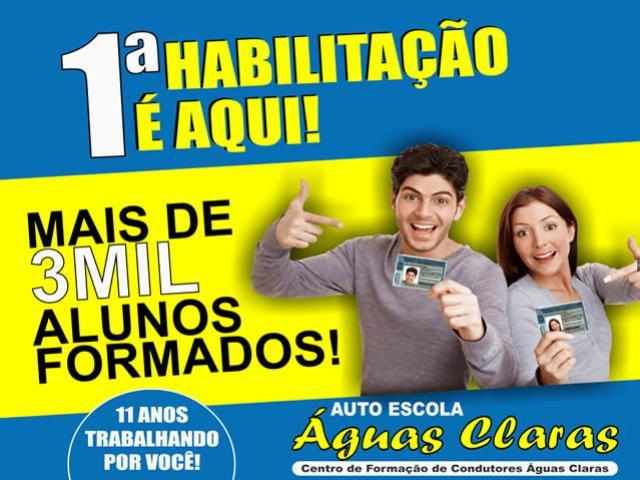 """O aniversário é da """"Autoescola Águas Claras"""" - mas quem ganha é você! CORRA fazer sua habilitação!"""