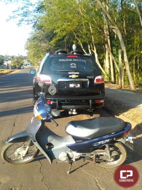 Equipe da Polícia Militar de Cianorte recupera Biz com alerta de furto